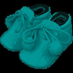 Sevva Pale Blue Pom Pom Shoes