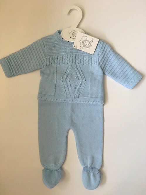 Dandelion Baby Boys Pale Blue Two Piece KnittedSet