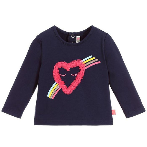 Billieblush Baby Girls Long Sleeve Top With Heart Design