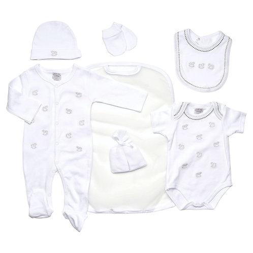 Just Too Cute Rocking Horse Pattern Unisex Layette Set