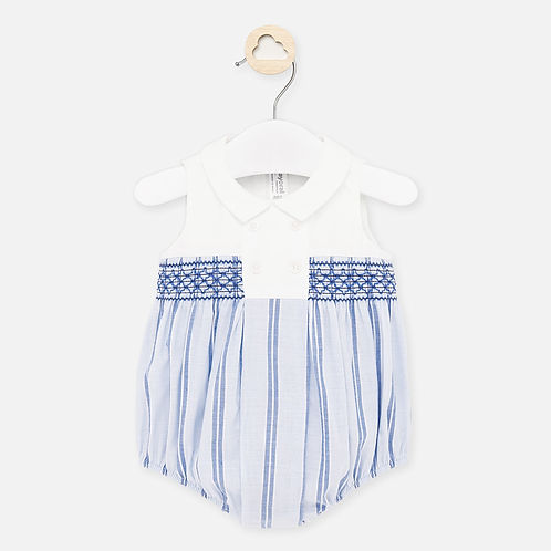 Mayoral Baby Boys Romper with Smocking