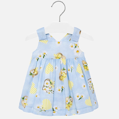 Mayoral Baby Girls Sleeveless Dress with Summery Print