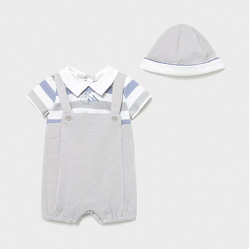 Mayoral Baby Boys Summer Onesie with Hat