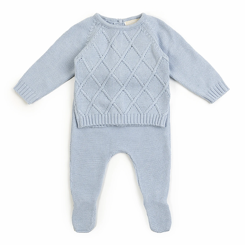 Babybol Baby Boys Two Piece Knitted Set
