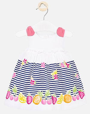 Mayoral Baby Girls Sun Dress with Fruit Design