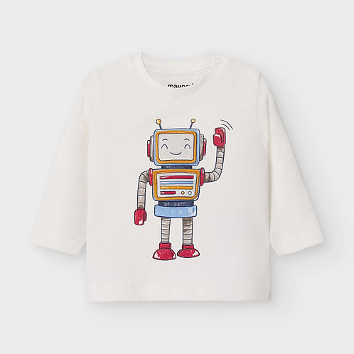 Mayoral Baby Boys Long Sleeve Top with Robot Design