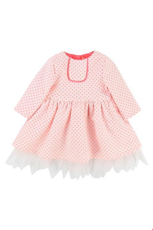 Billieblush Girls Hot Pink Spot Dress