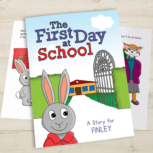 First Day of School Personalised Book