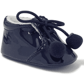 Sevva Navy Blue Pom Pom Shoes