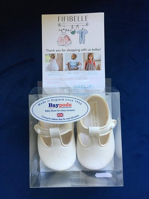 Baypods Unisex Off White Soft Sole Shoes