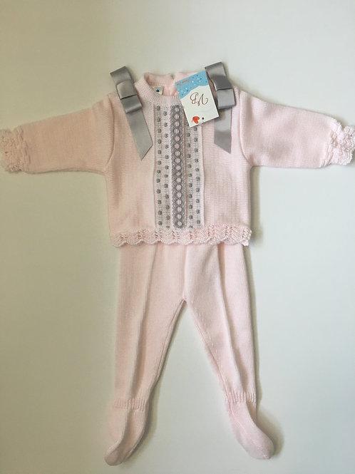 Baby Girls Fine Knit Two Piece Set