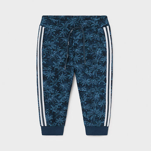 Mayoral Boys Leaf Pattern Jogging Bottoms