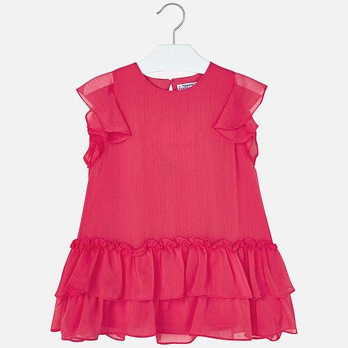 Mayoral Girls Short Sleeve  Ruffle Dress