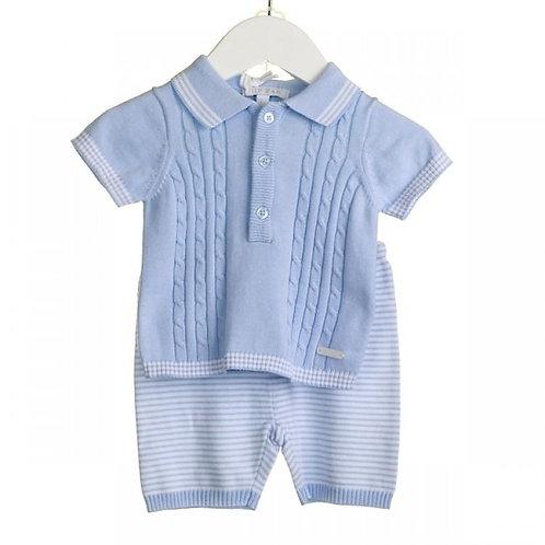 Blues Baby - Baby Boys Two Piece Fine Knit ShortSet