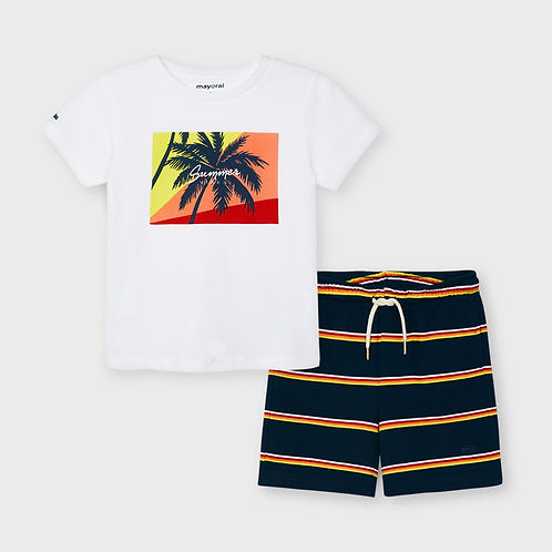 Mayoral Boys Shorts & T Shirt Set