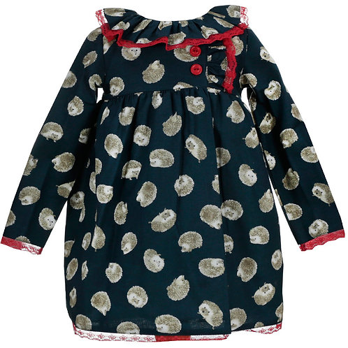 Dulce de Fresa Girls Hedgehog Pattern Dress