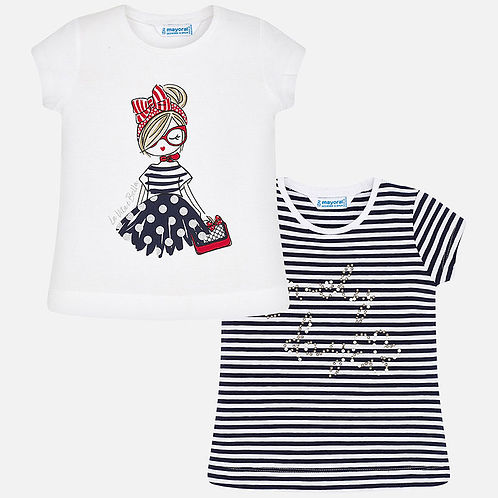 Mayoral Girls Short Sleeve Tops - 2 Piece Set