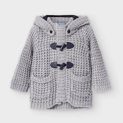 Mayoral Baby Boys Grey Knitted Jacket