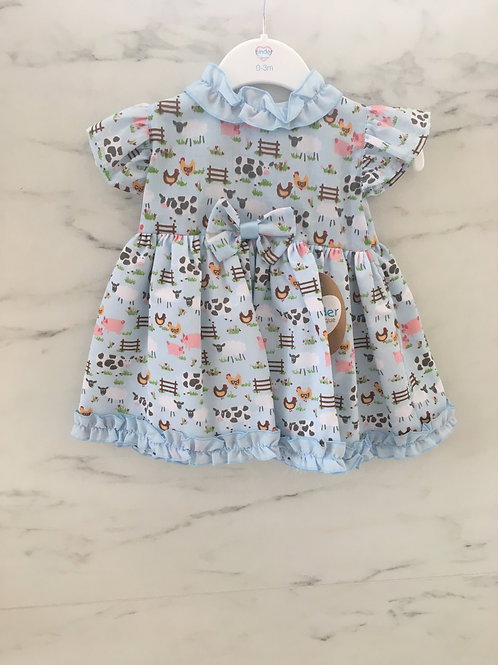 Kinder Baby Girls Dress with a cute Animal Print Design