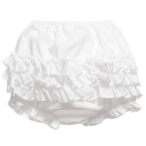 Sarah Louise White Frill Knickers