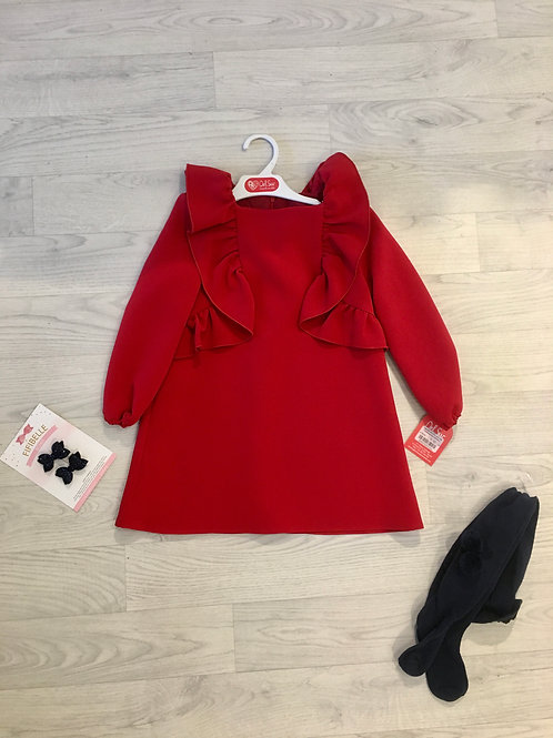 Del Sur Girls Red Dress