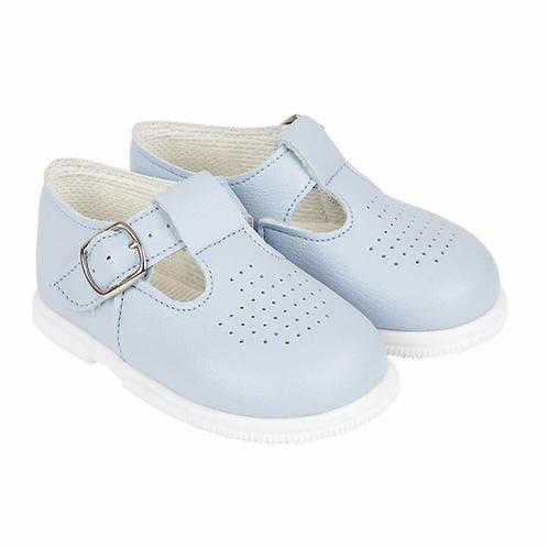 Little Boys Pale Blue Hard Sole Baypod Shoes