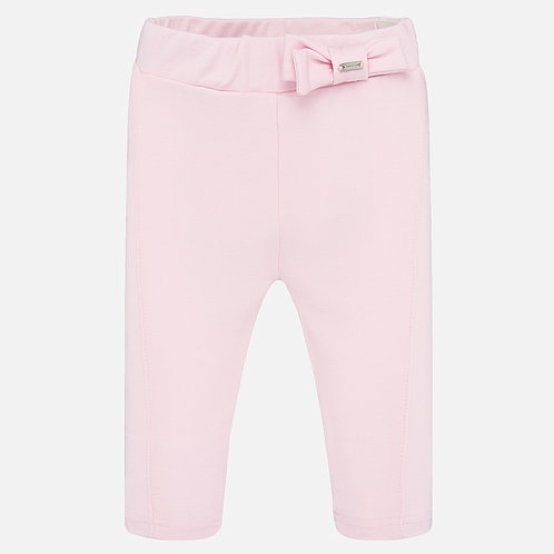 Mayoral Girls Soft Pink Leggings with Bow Detail