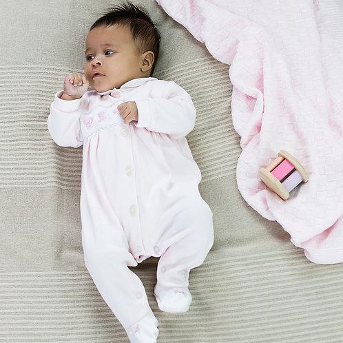 Emile et Rose Pale Pink Baby Girls Romper