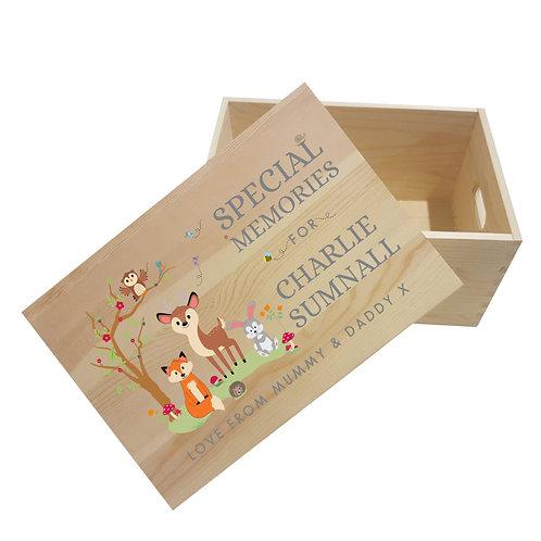 Personalised Woodland Special Memories Box