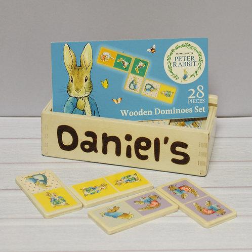 Peter Rabbit Personalised Dominoes Set