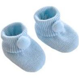 Baby Boys Pale Blue Bootees