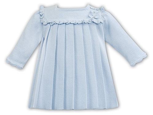 Sarah Louise Pale Blue Fine Knit Dress
