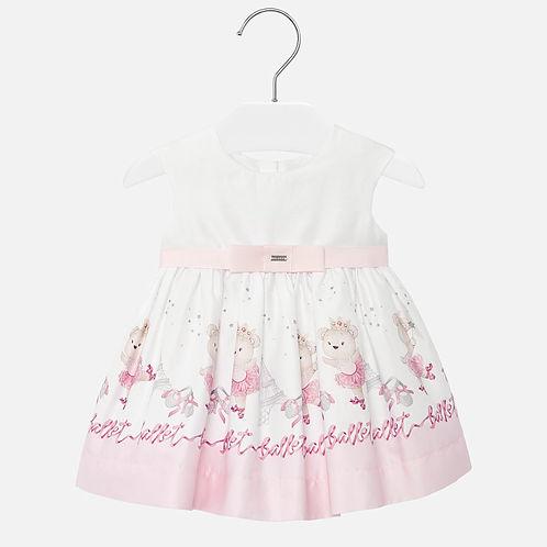 Mayoral Baby Girls Dress with Pretty Print Design
