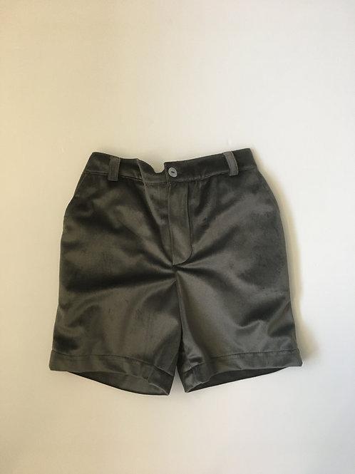 Benedita Boys Grey Velvet Shorts