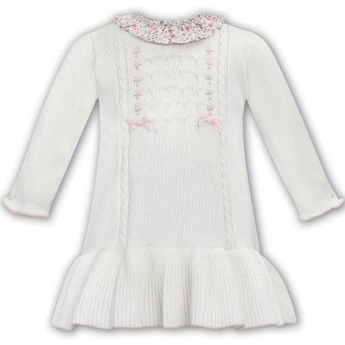 Sarah Louise Ivory Fine Knit Dress