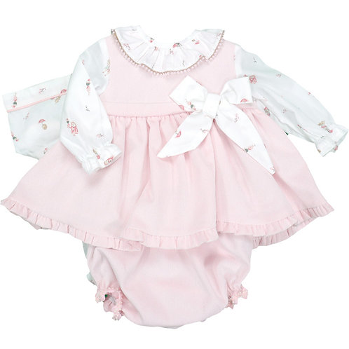 Babyferr Baby Girls Three Piece Dress Set