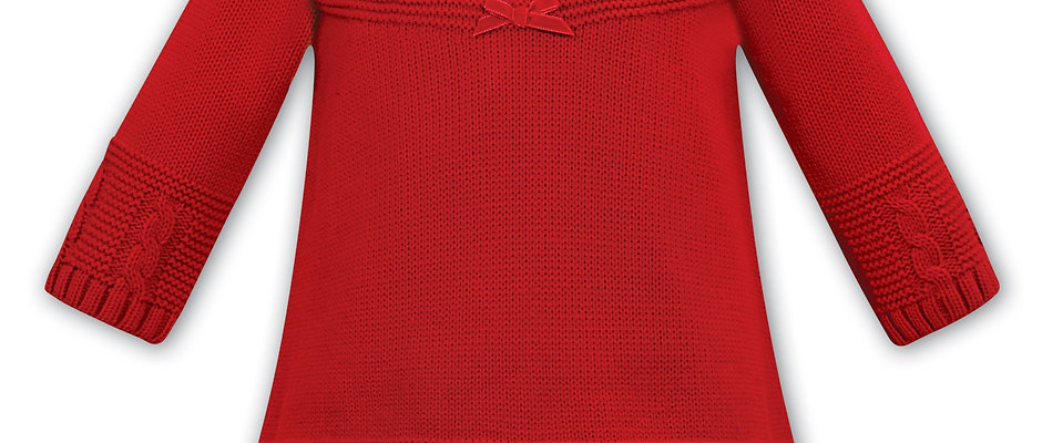 Sarah Louise Red Knitted Dress