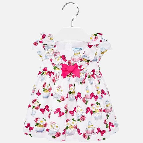 Mayoral Baby Girls Dress With Frilly V Neckline
