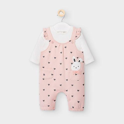 Mayoral Baby Girls Pink Polka Dot Babygrow