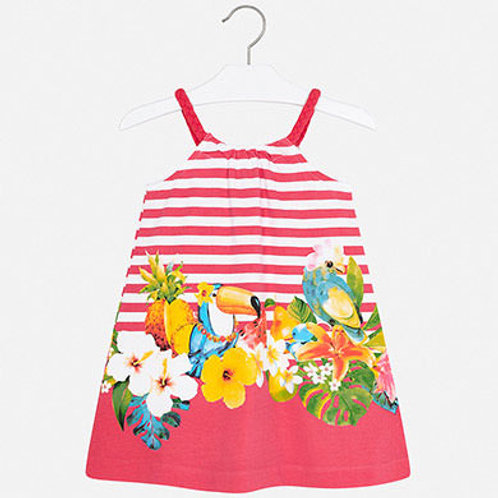 Mayoral Pink and Flower Pattern Dress