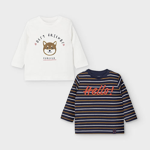 Mayoral Boys  Set of Two T Shirts