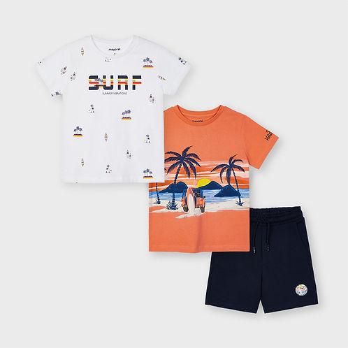 Mayoral Boys Three Piece Shorts & T Shirt Set