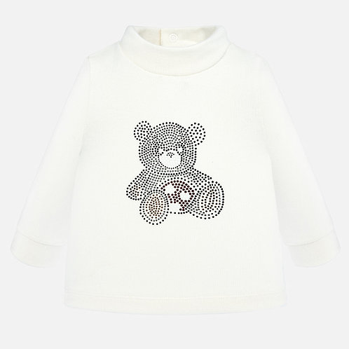 Mayoral Baby Girls Long Sleeve Top with Bear Motif
