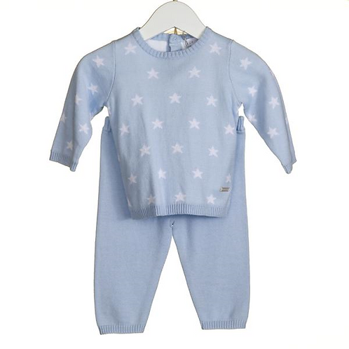 Blues Baby - Baby Boys Two Piece Tracksuit in Pale Blue