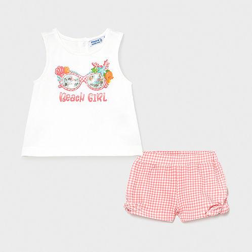Mayoral Girls Top & Shorts Set
