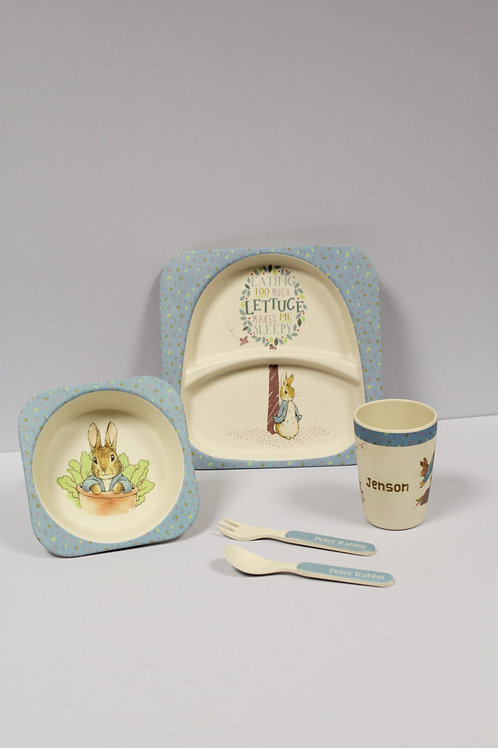 Peter Rabbit Personalised Bamboo Breakfast Set