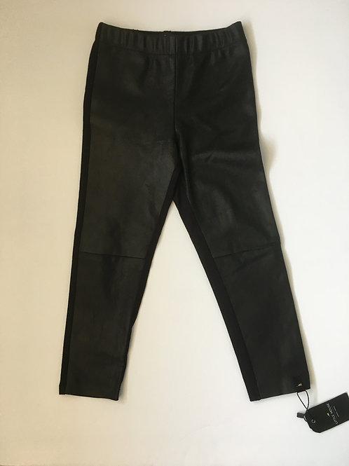 Girls Fabric & Leather Leggings