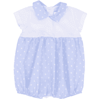 Rapife Baby Boys Pale Blue Star Pattern Romper