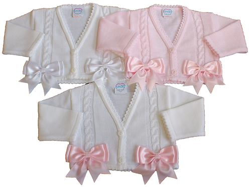 Kinder Baby Girls Cardigan With Pretty Bows