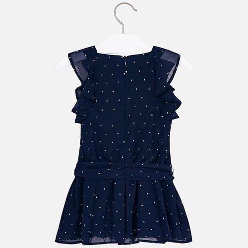 ce269f371a Mayoral Navy Chiffon Playsuit with Gold Detail